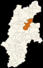 上田市の位置