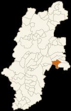 南牧村の位置