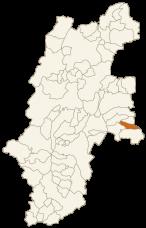 南相木村の位置