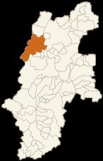 大町市の位置