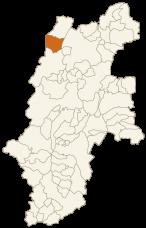白馬村の位置