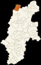 小谷村の位置