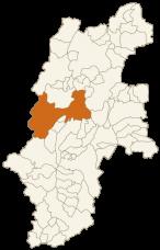 松本市の位置
