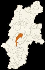塩尻市の位置
