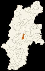 岡谷市の位置