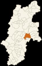 茅野市の位置