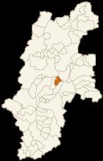 下諏訪町の位置