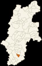 喬木村の位置