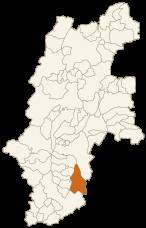 大鹿村の位置