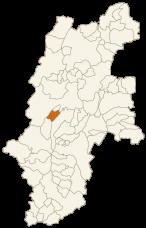 朝日村の位置