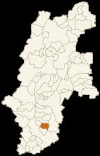 豊丘村の位置