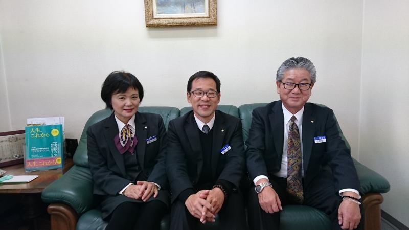 東京都から須坂市に移住した久米さんご夫婦と受け入れ企業の博善社インタビューの画像
